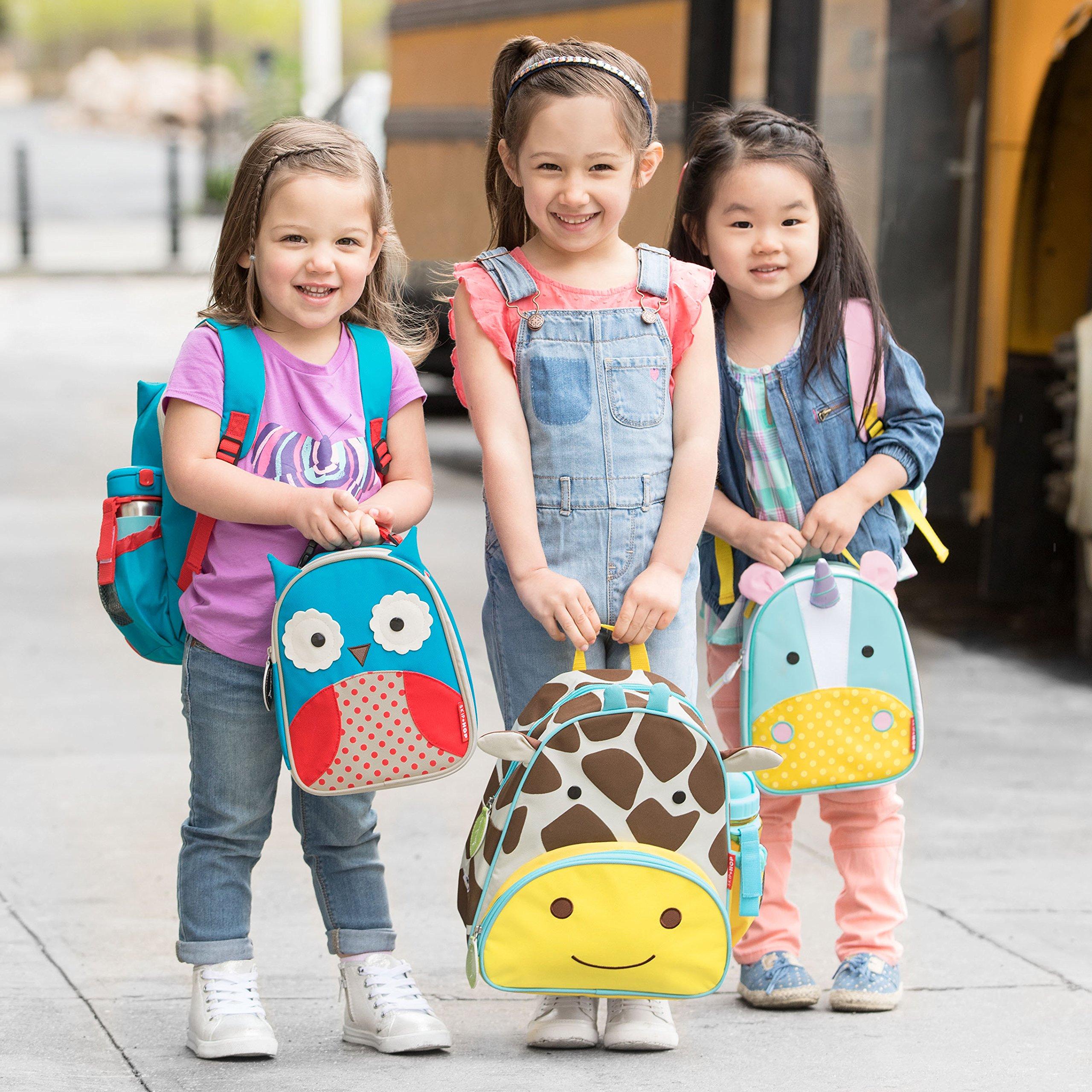 Skip Hop Zoo Kids Insulated Lunch Box, Eureka Unicorn, 9''x3.25''x7.5'', Multi Colored