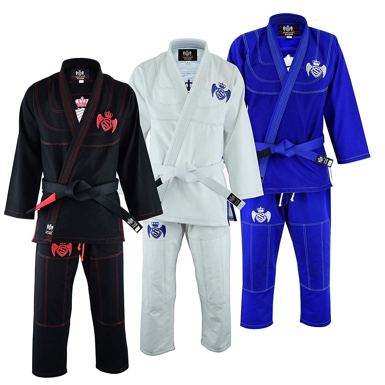 Stampa Sports 通気性 450 GSM BJJ JIU Jitsu Gi 超快適 手頃な価格 ブルー A0