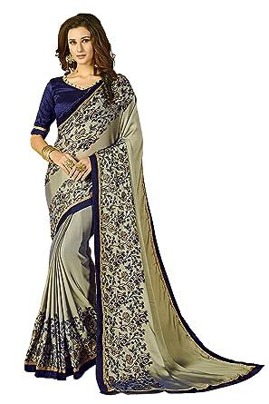 0166229720db23 Glory Sarees Women's Rangoli Silk Saree With Blouse Piece  (luxury102_grey_blue)