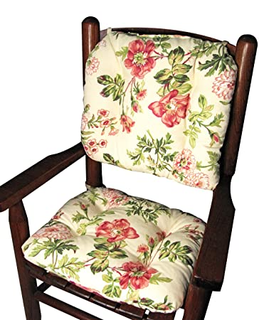 Barnett Child Rocking Chair Cushions  Farrell Multi, Latex Foam Fill,  Tufted, Reversible