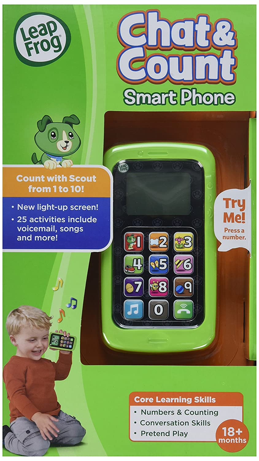Amazon.com: LeapFrog Chat and Count Smart Phone, Scout, Assorted ...