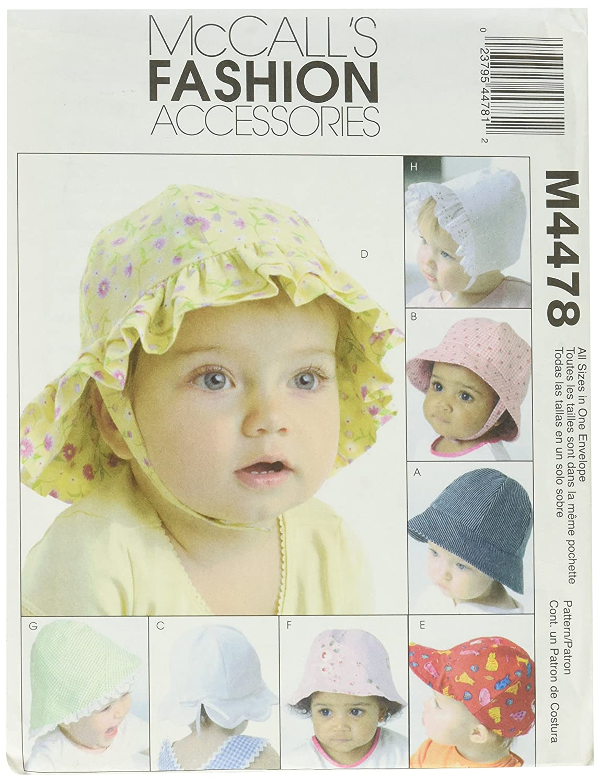 Amazon.com: McCall\'s Patterns M4478 Infants\' Hat, All Sizes: Arts ...