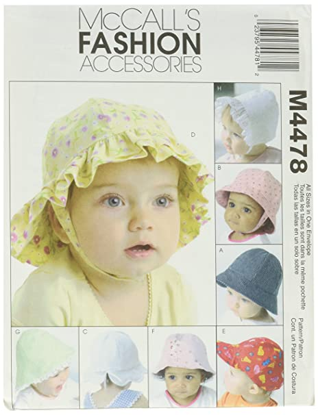 a702a3f47af Amazon.com  McCall s Patterns M4478 Infants  Hat  Arts