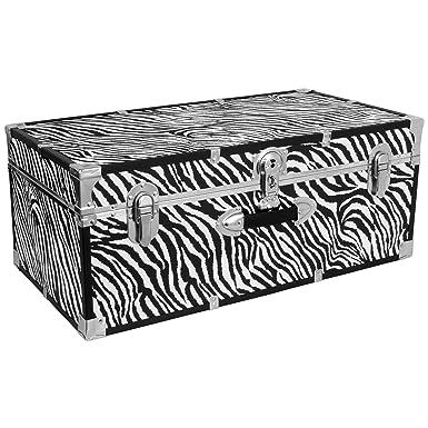 Seward Trunk Perfect Storage Trunk, Zebra Print, 30 Inch (SWD6130 15