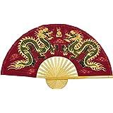 """Oriental Furniture Fiery Dragons Wall Fan - 60"""""""