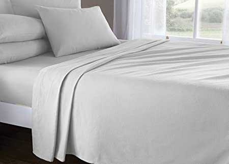 FITTED Thermal Flannelette 100/% Brushed Cotton Fitted Bed Sheet Pillow Case SALE