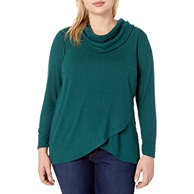 AGB Women's Tulip Hem Cowl Neck Sweater at Amazon Women's Clothing store