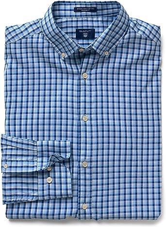 GANT Camisa Cuadros Azules XL: Amazon.es: Ropa y accesorios