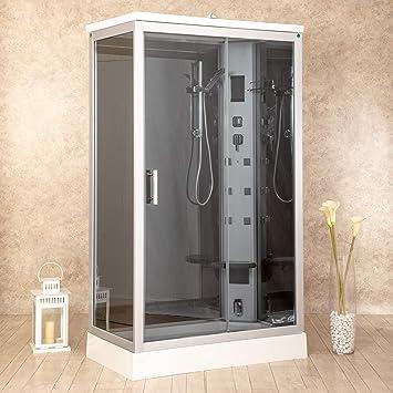 Ducha Air Plus, de 70 x 120 cm, a la derecha, hidromasaje, sauna ...