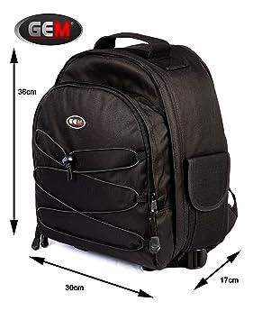 GEM mochila para cámara réflex con funda impermeable para Sony ...