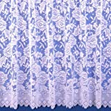 "Balmoral Mediumweight Jacquard Net Curtain In White - Sold By The Metre - 40"" (102cm) Drop"