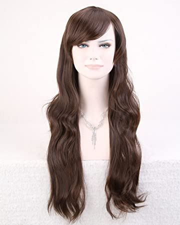 Amazon.com   Dark Brown Long Wavy Wig   Hair Care Products   Beauty eecc6d3e0fc5