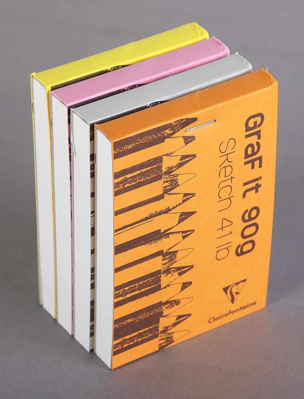80 Fogli Rosa Fucsia Clairefontaine 96680C Blocco di Carta A4