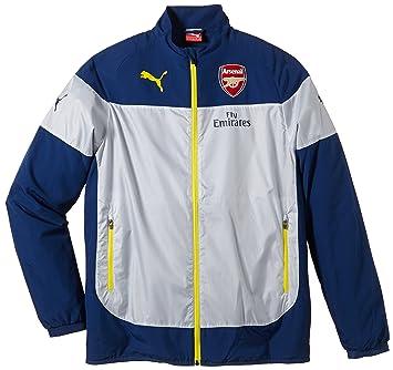quality design 1d0d6 b7144 Puma Childrens Arsenal Football Club Leisure Jacket with Sponsor blue  Estate Blue-Empire Yellow-