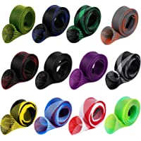 12Pcs Rod Sock Fishing Rod Sleeve Rod Cover Braided Mesh Rod Protector Pole Gloves Fishing Tools. Flat or Pointed End…