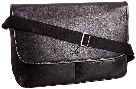 dfabd7cf33a2 O.S.P Mens Bakersfield Messenger Shoulder Bag OS1103-44 Black ...