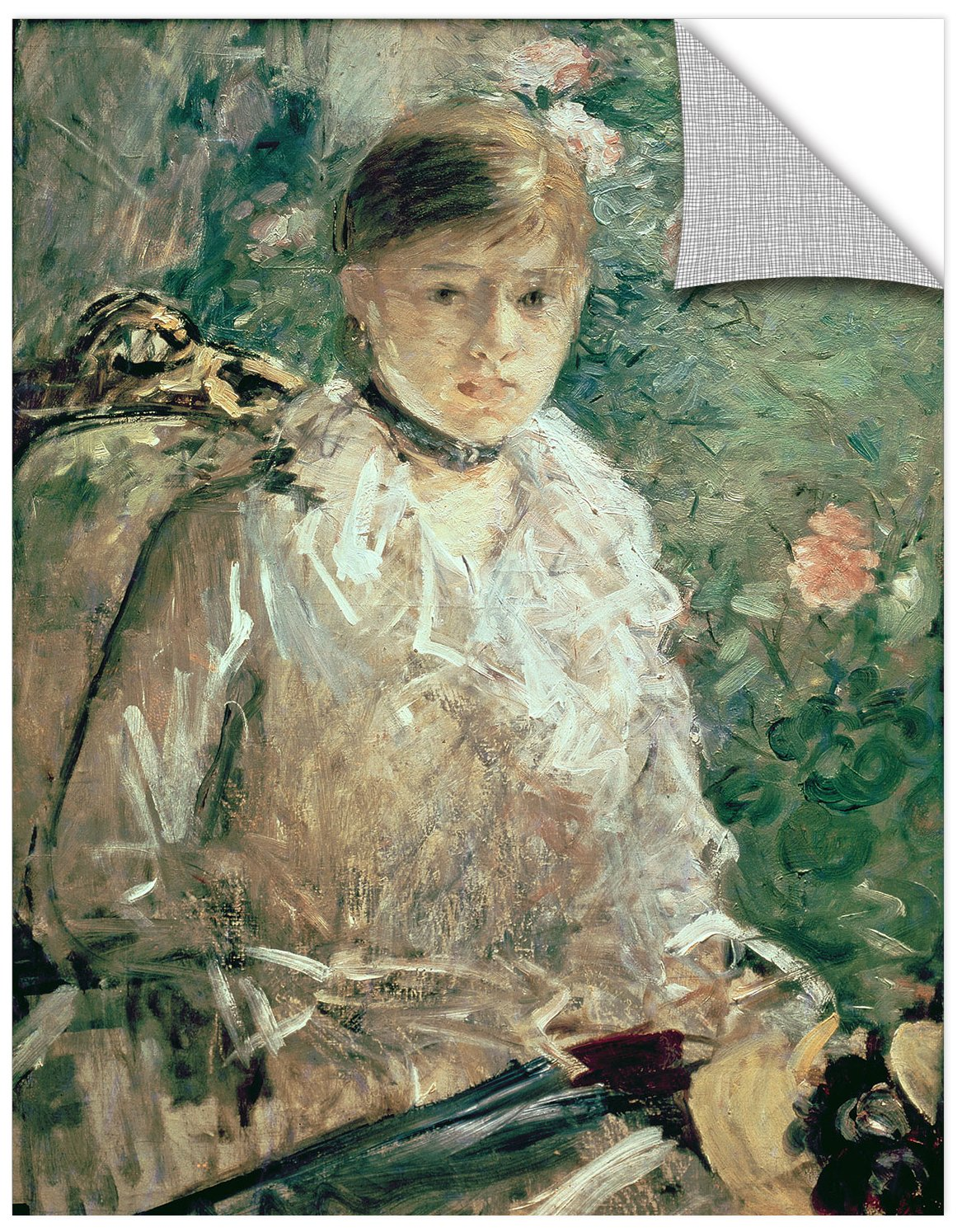 14X18 Berthe Morisot Portrait Of A Young Lady Removable Wall Art Mural