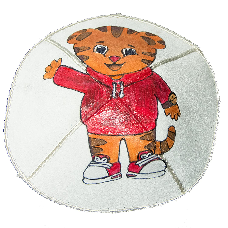 Hand-painted Kippah Yarmulke with Garfield
