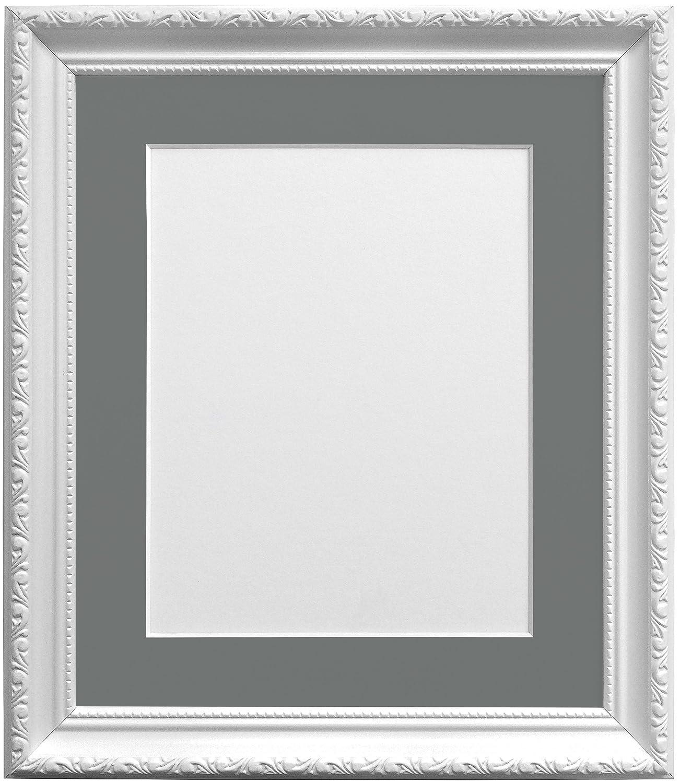 Frames By Post Bilderrahmen mit dunklem Grau Passepartout für A3 ...
