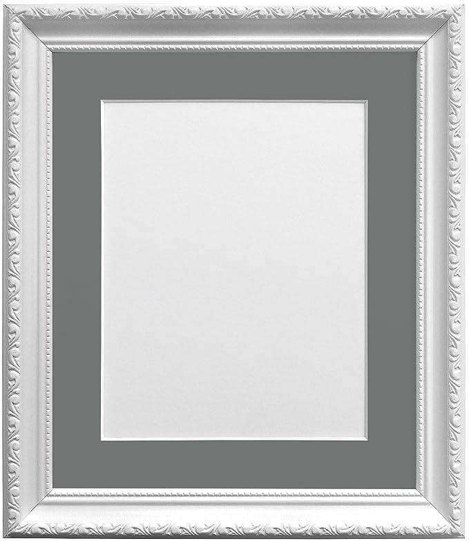 Frames By Post Bilderrahmen mit dunklem Grau Passepartout für 12 x ...