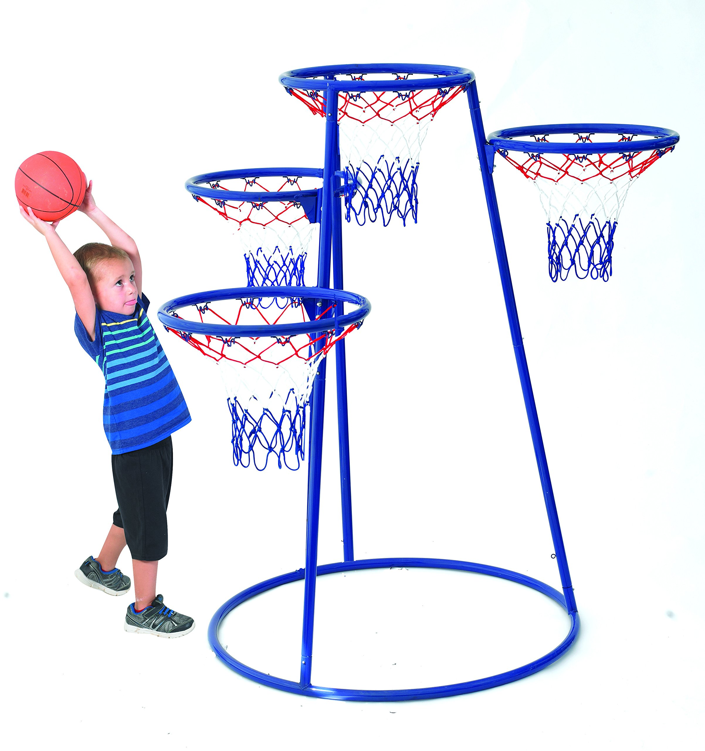 Angeles 4 Rings Basketball Stand with Storage Bag for Kids Active Play Toy (48 x 36 x 54 in) by Angeles (Image #2)