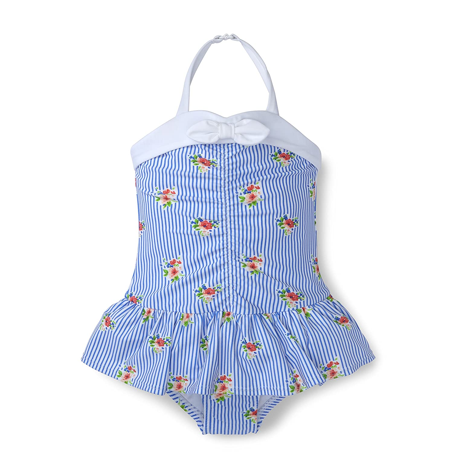 Hope & Henry Girls' Ruched One-Piece Swimsuit M18G500KParent