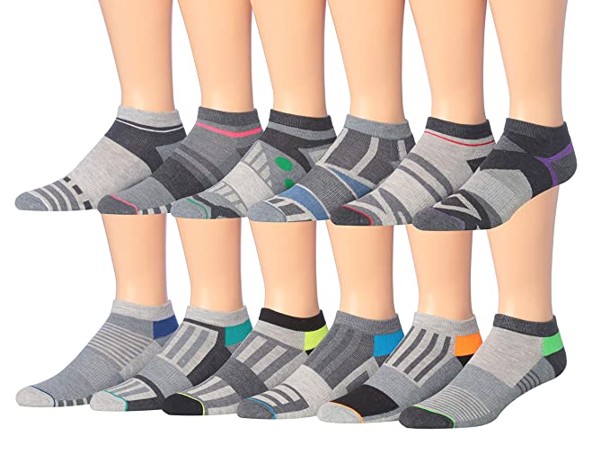 bd2d0742d James Fiallo Men s 12-Pairs Low Cut Athletic Sport Socks (2921-12 ...