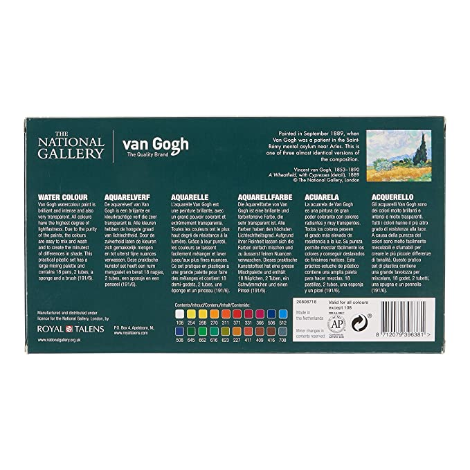 Amazon.com: The National Gallery Van Gogh Watercolor Paint ...