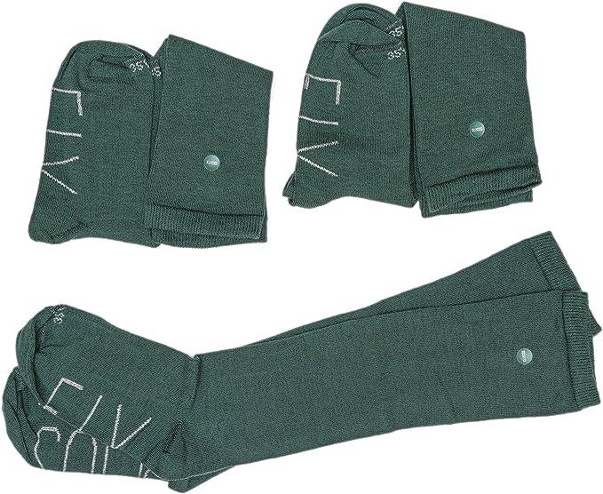 SOCKFIX Calcetines escolares largos con botón (pack 3 pares ...