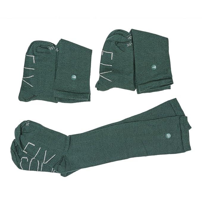 SOCKFIX Calcetines escolares largos con botón (pack 3 pares): Amazon.es: Ropa y accesorios