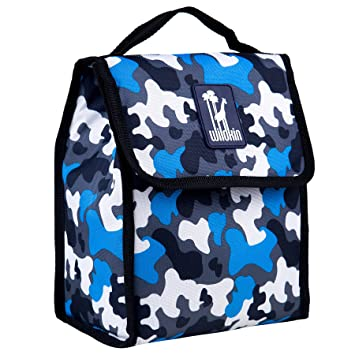 aqua and camo amazoncom wildkin blue camo lunch bag reusable lunch bags