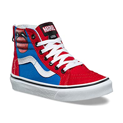 730a42096c Vans SK8-Hi Zip (Marvel) Spider-Man True White VN0A3276U4I Kids
