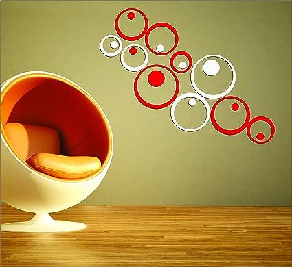Buy Dakshita 3D Acrylic Wall Sticker (18.6x18.3x5.5cm, Red) - Pack ...