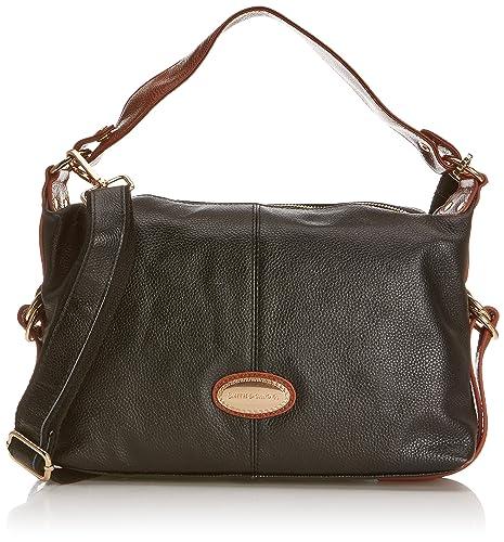 31a4da6f92c4 Smith   Canova Womens 92067 Handbag Shoulder Bag Black  Amazon.co.uk  Shoes    Bags