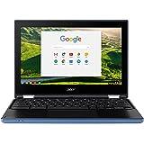 Acer Chromebook R11 CB5-132T - (Intel Celeron N3060, 4GB, 32GB eMMC, 11.6 inch HD Touchscreen Display, Google Chrome OS, Blue)