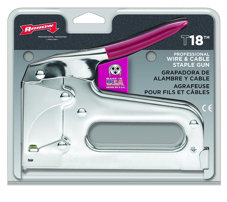 arrow fastener t18 low voltage wire staple tacker hand staplers