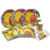 Heku 30005Set de fiesta con platos, vasos y servilletas desechables, 120piezas