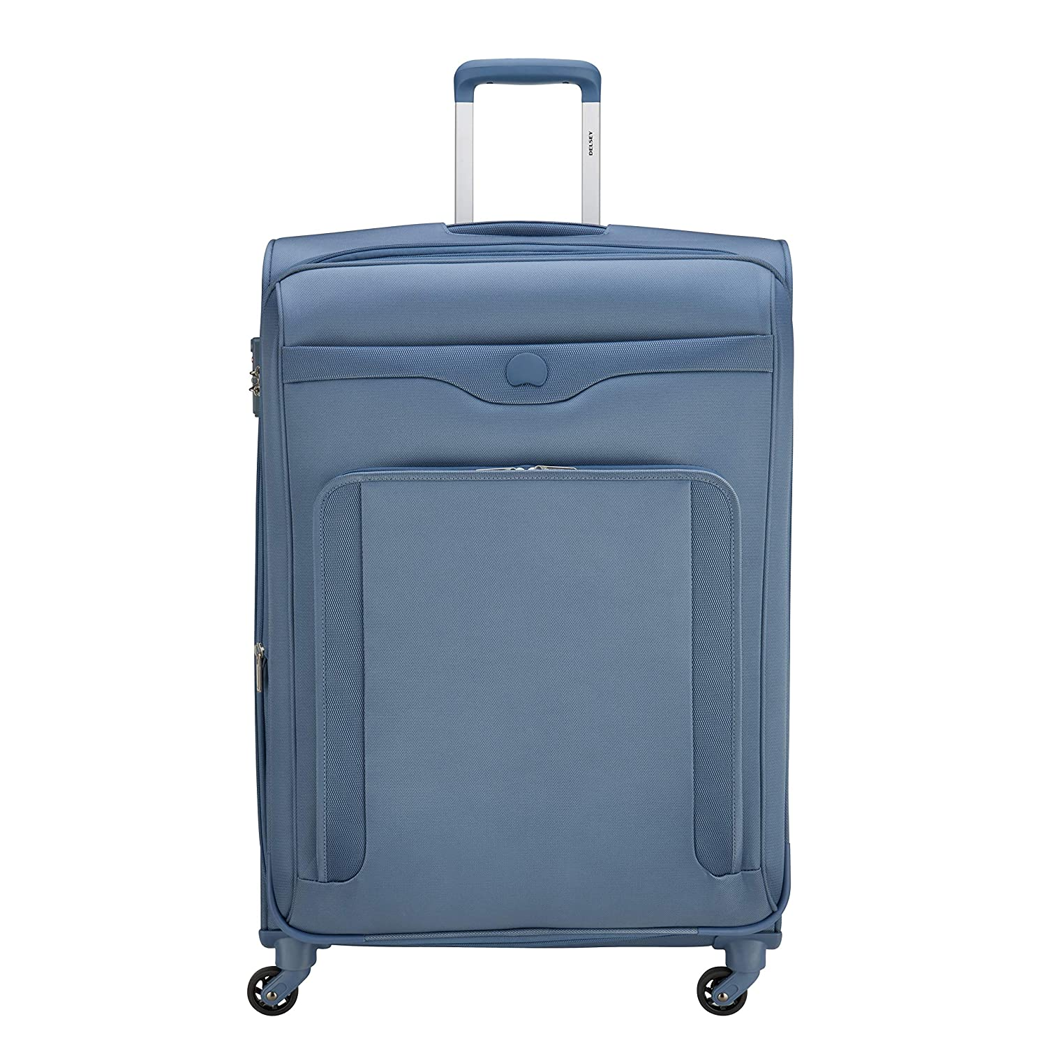 DELSEY Polyester 71 cms Steel Blue Softsided Check-in Luggage (BAIKAL)