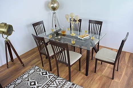Moderno tavolo da sala da pranzo, 6 sedie, 4-Set da cucina in legno ...
