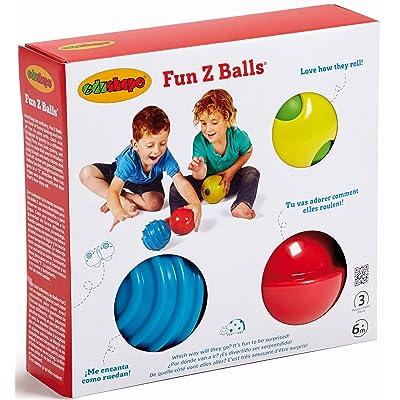 Edushape Fun Z Balls, 3 Piece : Baby