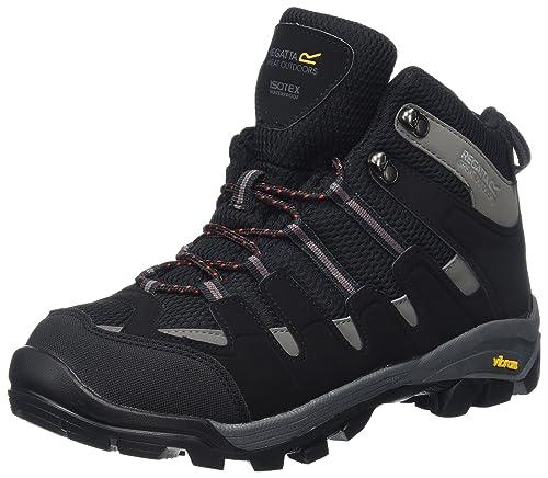 Regatta Burrell, Mens High Rise Hiking Boots, Black (Black/Granit),