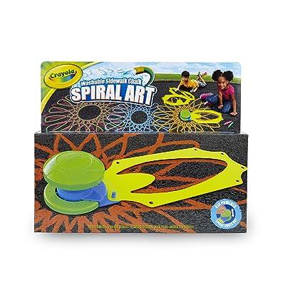 Crayola Washable Sidewalk Chalk Spiral Art Kit, 12Piece, Outdoor Toy, Gift for Kids: Toys & Games