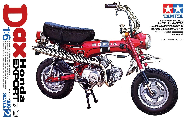 Beliebt Amazon.com: Tamiya 1/6 Honda Dax Export 70 Motorcycle Model Kit  UN46