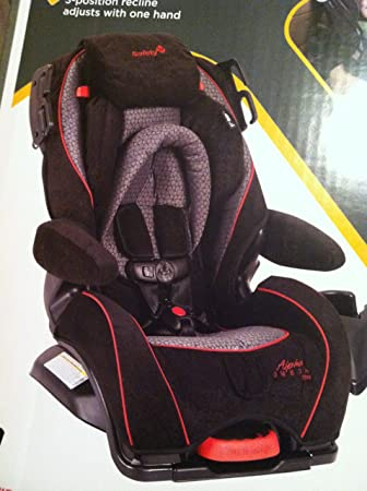 Safety 1st Alpha Omega Elite Car Seat Black With Red Trim