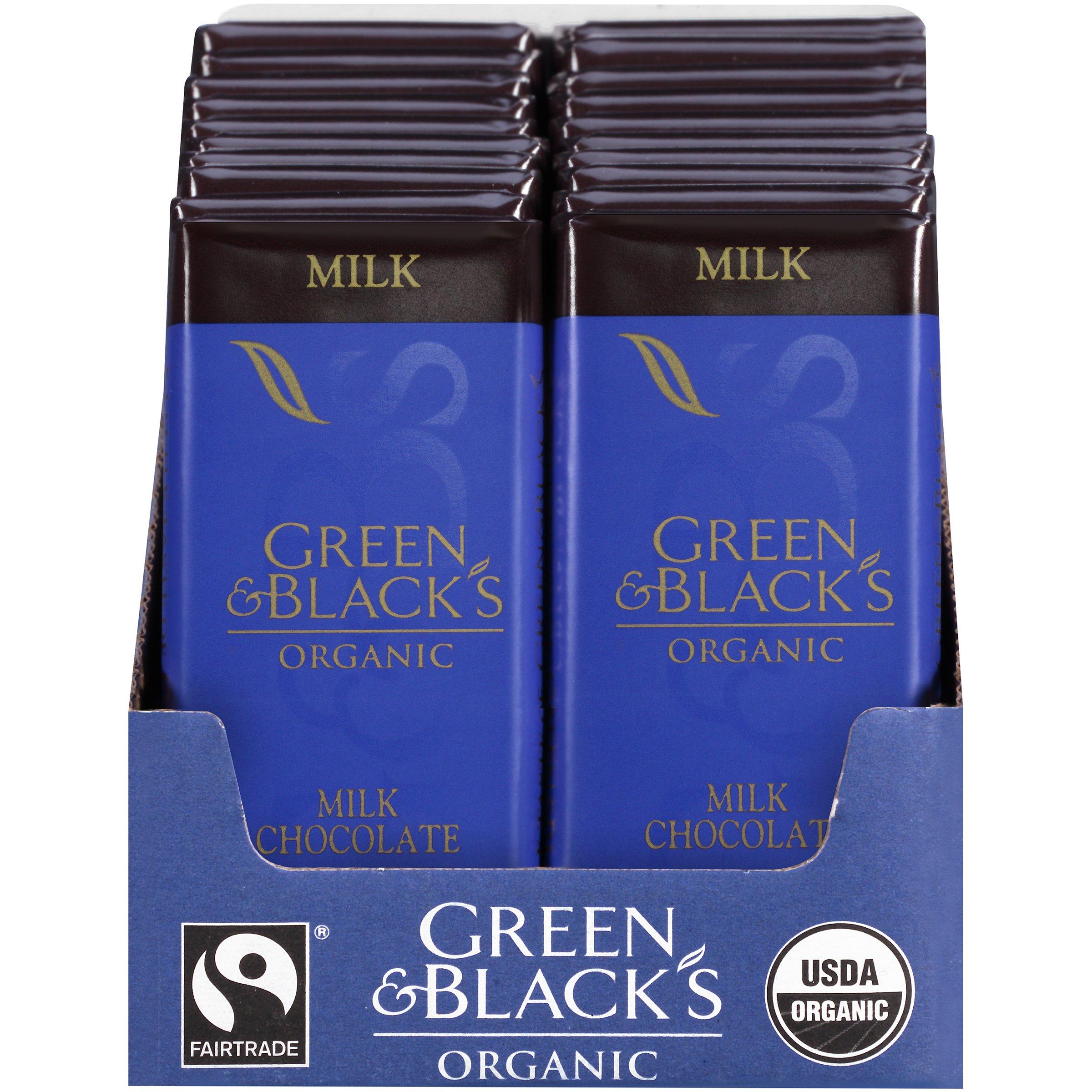 Green & Black's Organic Milk Chocolate (20 total bars) Bars by Green & Black's