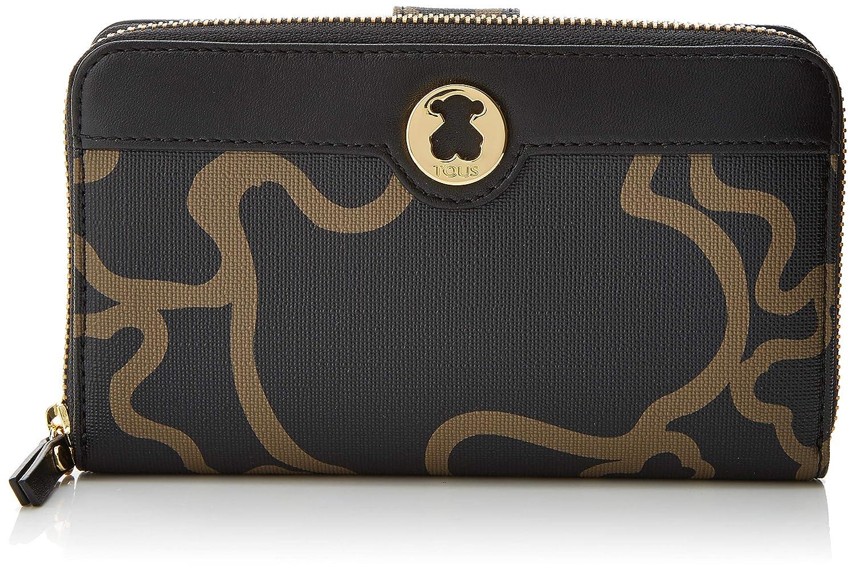 Tous Billetera Kaos Classic, Cartera para Mujer, Multicolor (Negro/Camel), 3x10.5x18.5 cm (W x H x L)