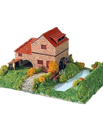Keranova- Kit de cerámica Casa Rural con Molino, Color marrón (30314)
