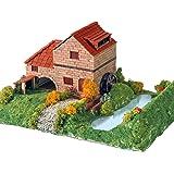 Keranova - Kit de cerámica Casa Rural con Molino, color marrón (30314)