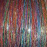 "40"" Sparkling & Shiny Hair Tinsel 120 Strands - Fantasia Mix"