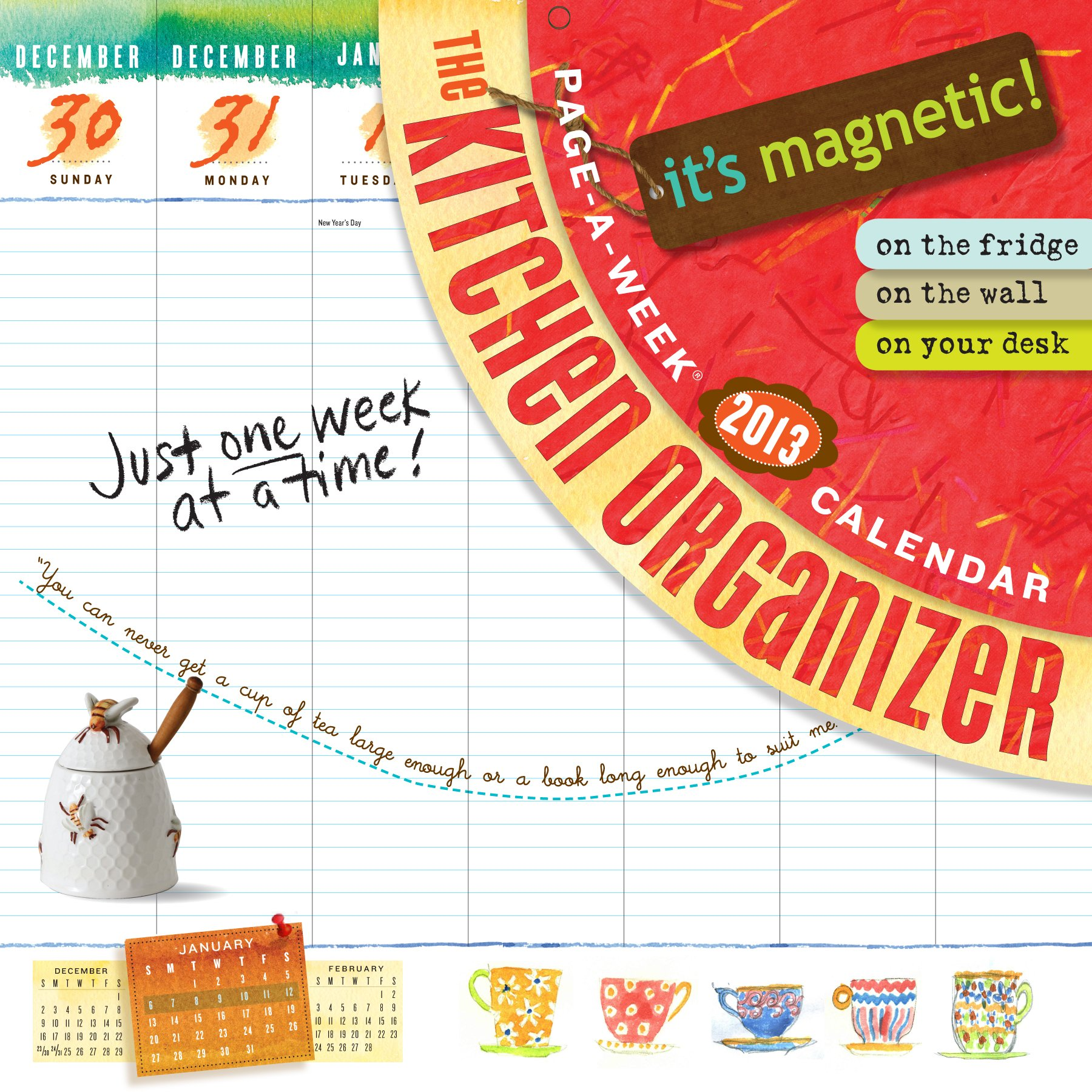 The Kitchen Organizer Page-A-Week 2013 Calendar: Workman Publishing ...